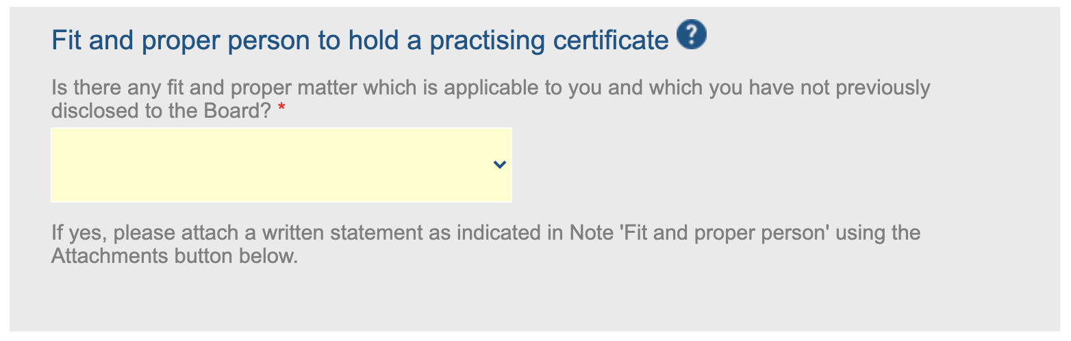 Fit and proper person to hold a practising certificate